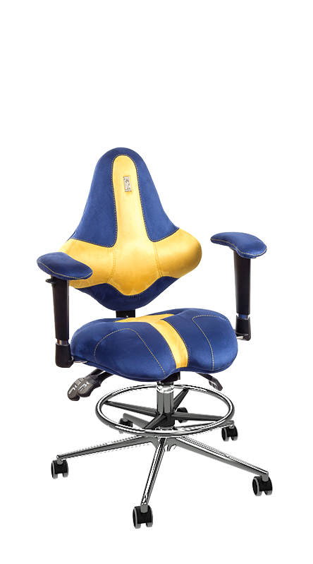 Детски ергономичен стол Kulik System Kids Blue Yellow