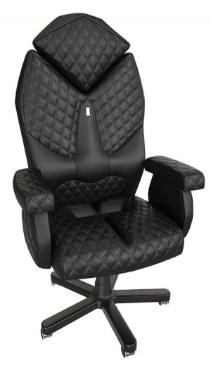 Луксозно ергономично офис кресло Kulik System Diamond Black