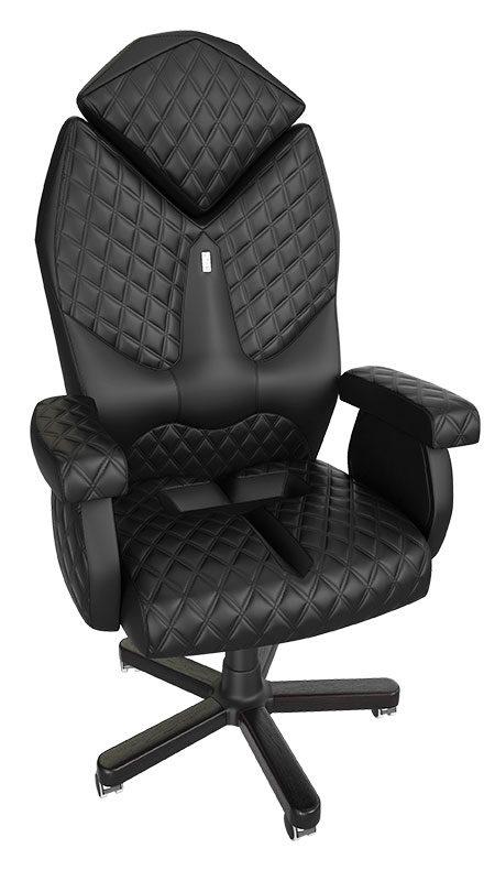 Ергономичен луксозен офис стол Kulik System Diamond Black