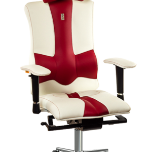 Ергономичен офис стол Kulik System Elegance White with Red