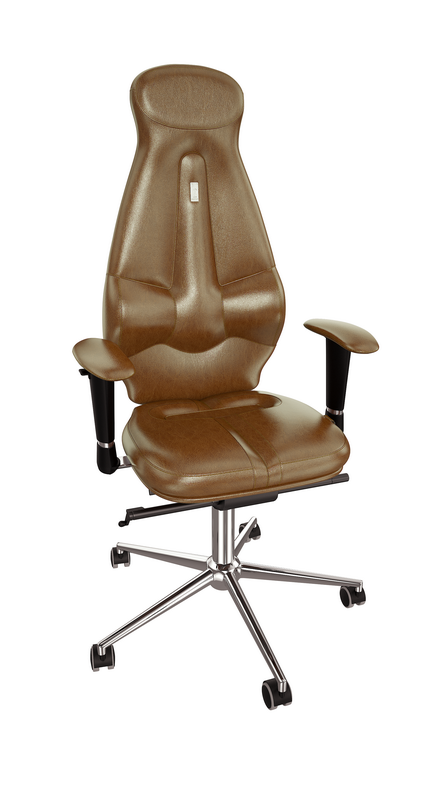 Ергономичен офис стол Kulik System Galaxy Brown