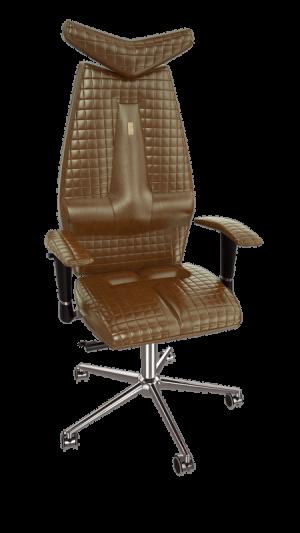 Ергономичен офис стол Kulik System Jet Brown