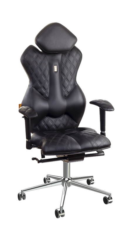 Ергономичен офис стол Kulik System Royal Black
