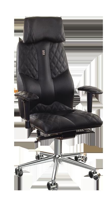 Ергономичен офис стол с перфорирана кожа Kulik System Business Black