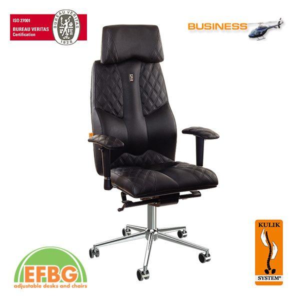 Ергономичен офис стол Kulik System Business Black