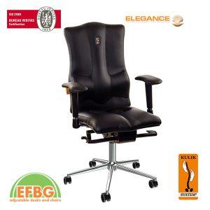 Ергономичен офис стол Kulik System Elegance Black