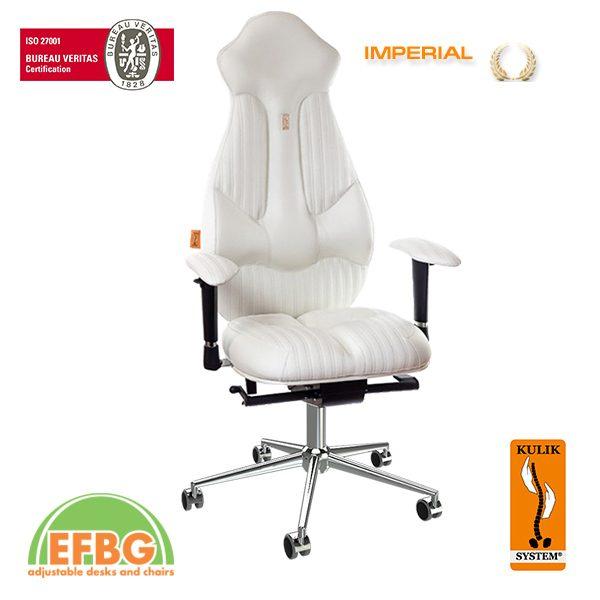 Ергономичен офис стол Kulik System Imperial White