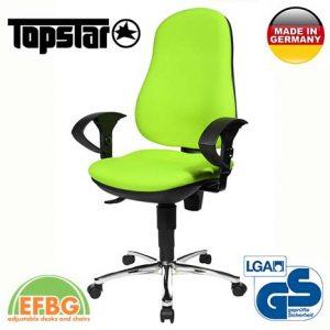 Ергономичен стол TOPstar Support SY - Светло Зелен