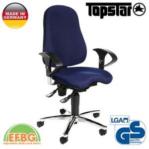 Ергономичен стол TOPstar Sitness 10 - Тъмно син